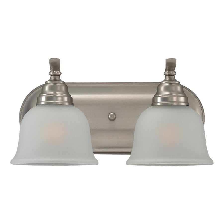 Sea Gull Lighting Wheaton 2-Light Brushed Nickel Bell Vanity Light