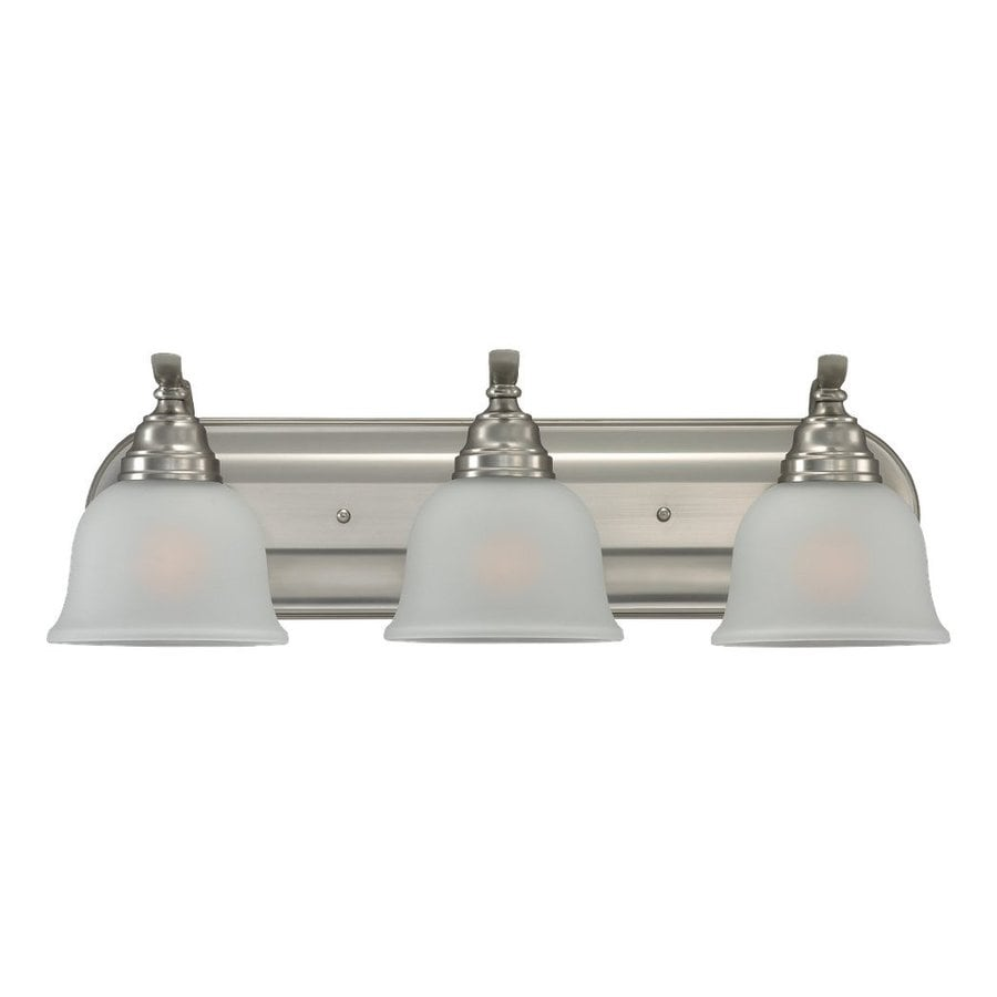 Sea Gull Lighting Wheaton 3-Light Brushed Nickel Bell Vanity Light
