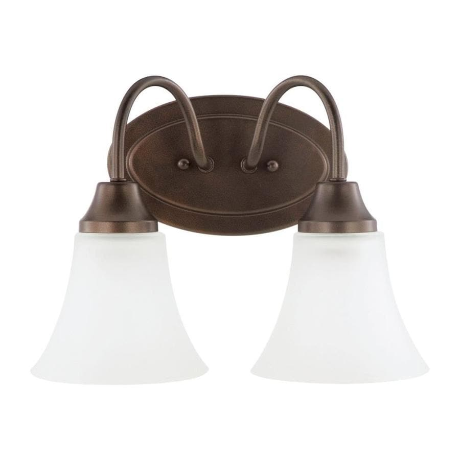 Sea Gull Lighting Holman 2-Light 9-in Bell metal bronze Bell Vanity Light