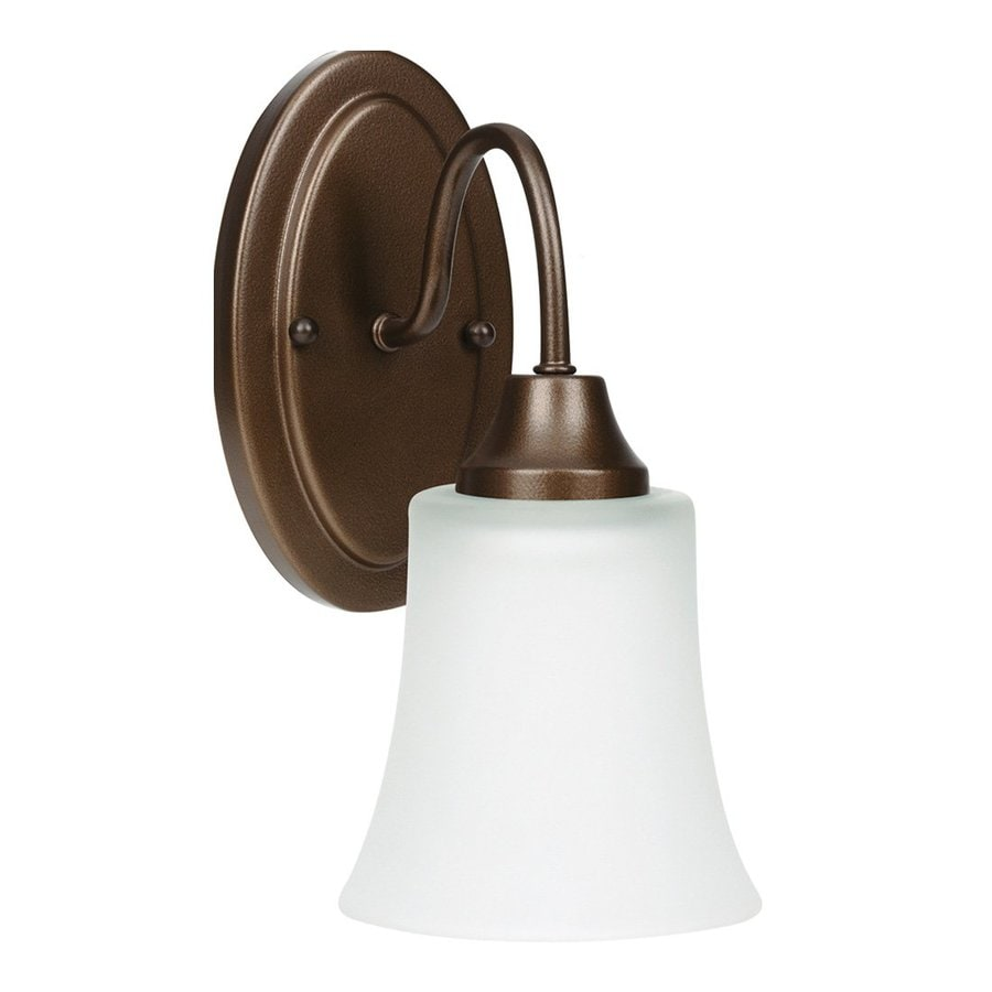 Sea Gull Lighting Holman 1-Light Bell Metal Bronze Vanity Light