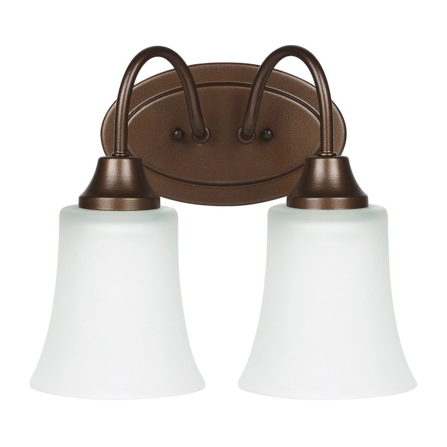 Sea Gull Lighting Holman 2-Light Bell Metal Bronze Bell Vanity Light
