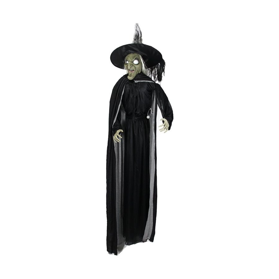 northlight scary witch pre lit witch greeter with flashing red led lights - Lowes Halloween Decorations