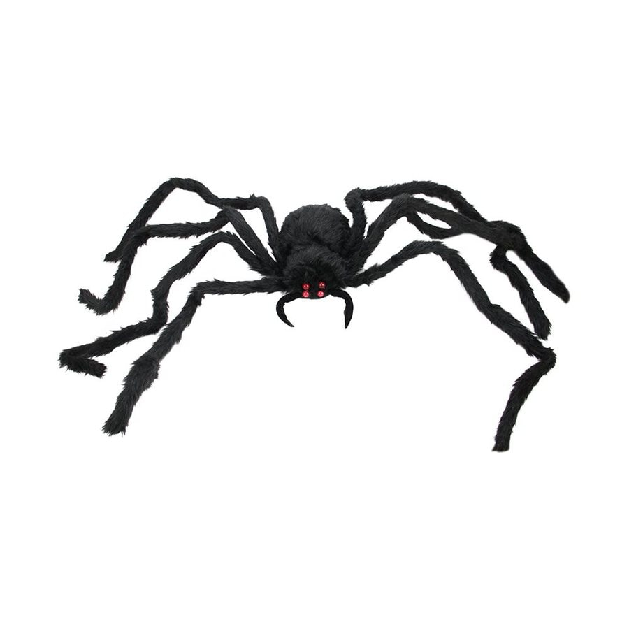 Northlight Creepy Black Spider Pre-Lit Freestanding Greeter with Flashing Red LED Lights