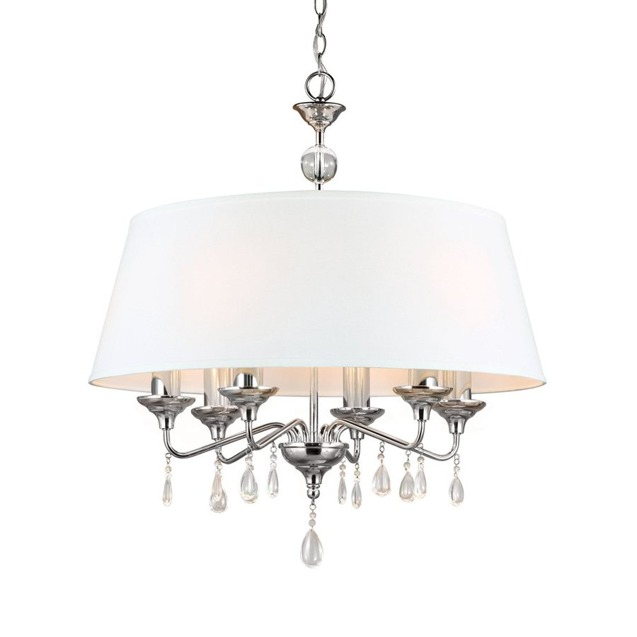 Sea Gull Lighting West Town 28-in 6-Light Chrome Vintage Drum Chandelier