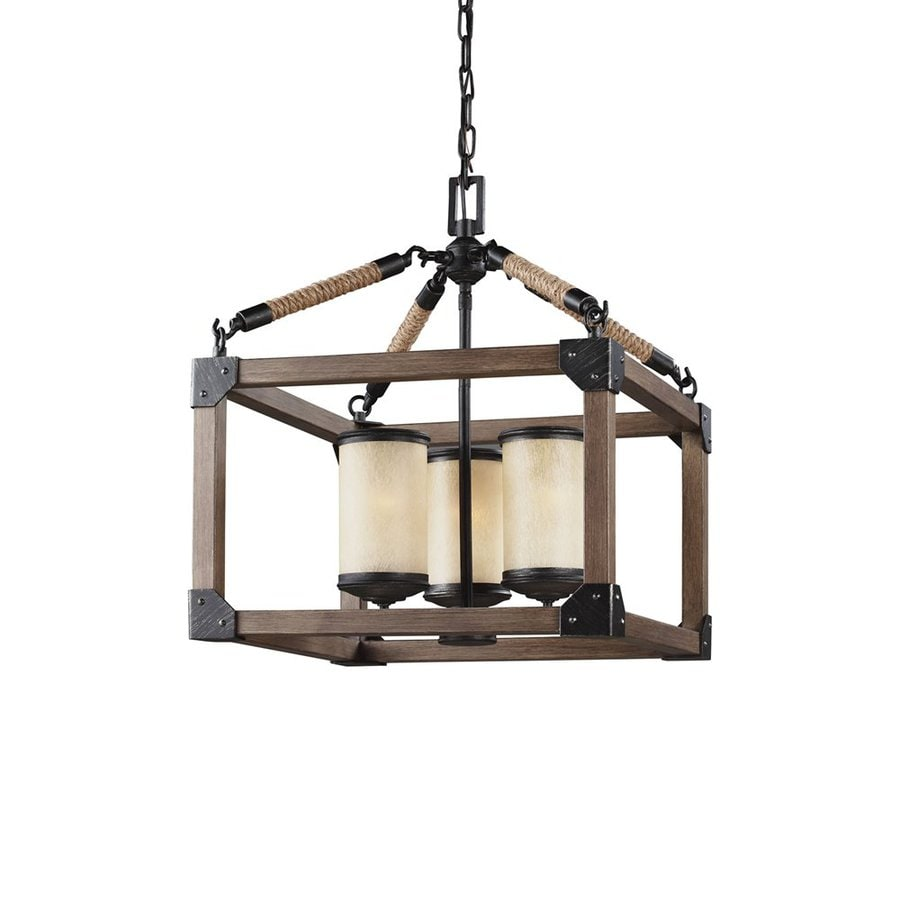 Sea Gull Lighting Dunning 16.5-in Stardust Rustic Single Cage Pendant