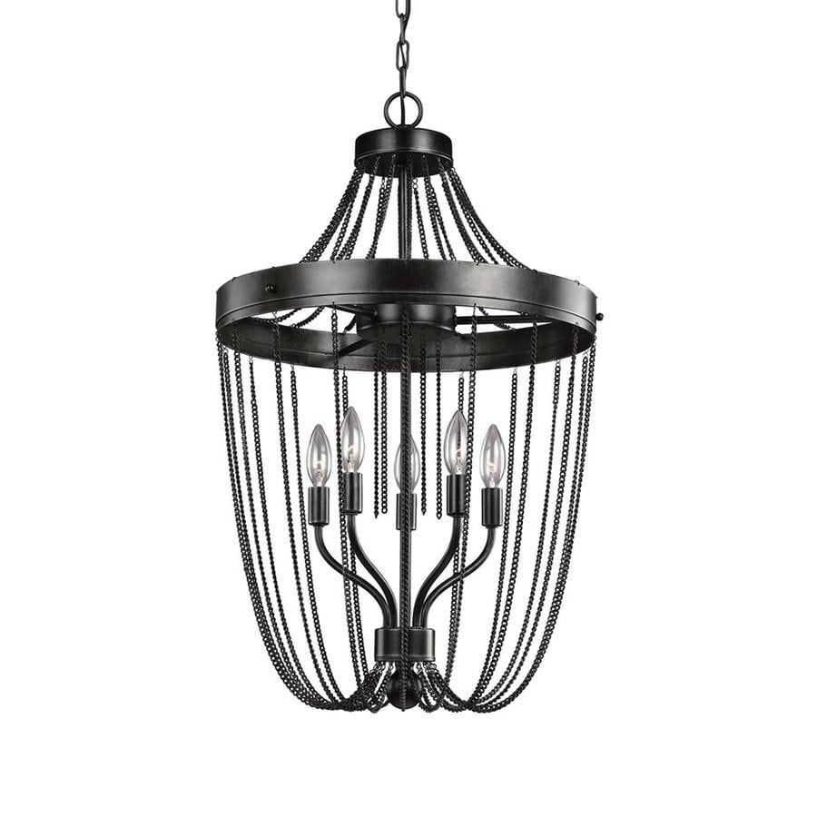 Sea Gull Lighting Kelvyn Park 18-in 5-Light Stardust Country Cottage Cage Chandelier
