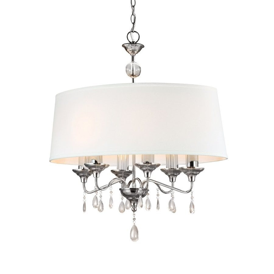 Sea Gull Lighting West Town 29-in 6-Light Chrome Vintage Drum Chandelier