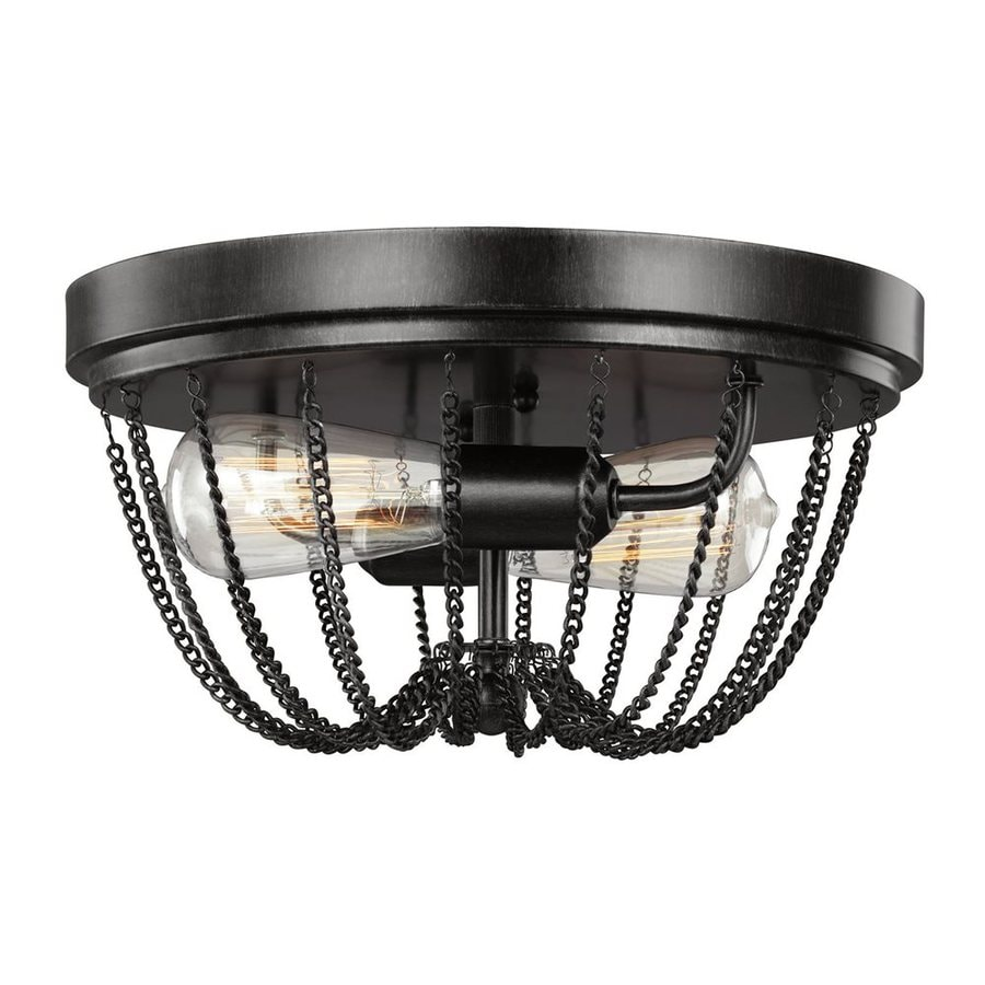 Sea Gull Lighting Kelvyn Park 13-in W Stardust Ceiling Flush Mount Light