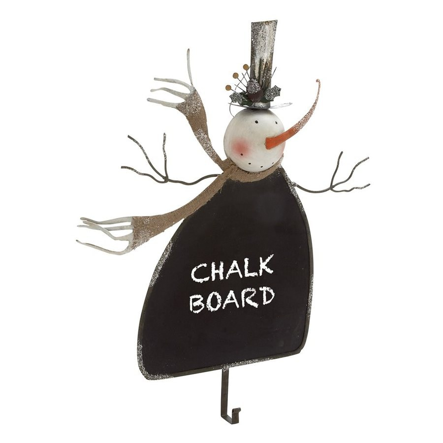 Woodland Imports Snowman Chalkboard Decorative Metal Multipurpose Hook