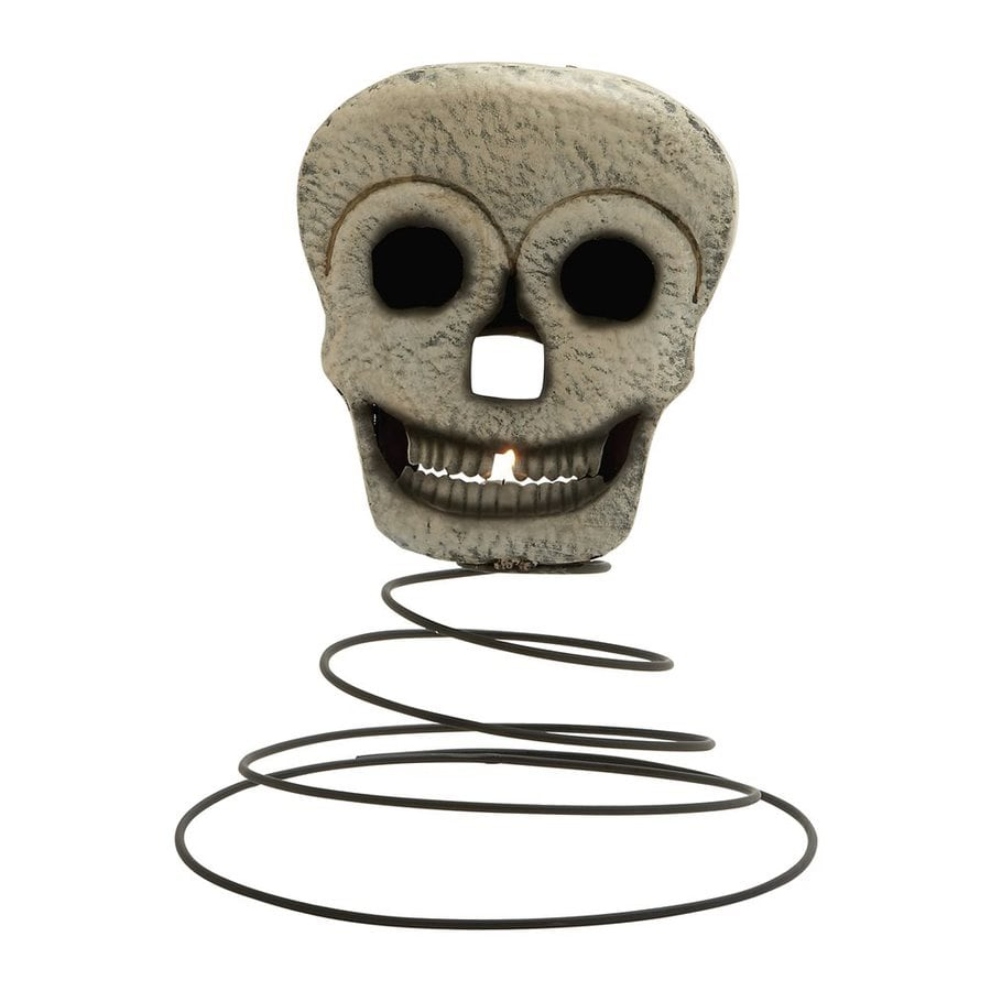 Woodland Imports Metal Tabletop Skeleton Candle Holder