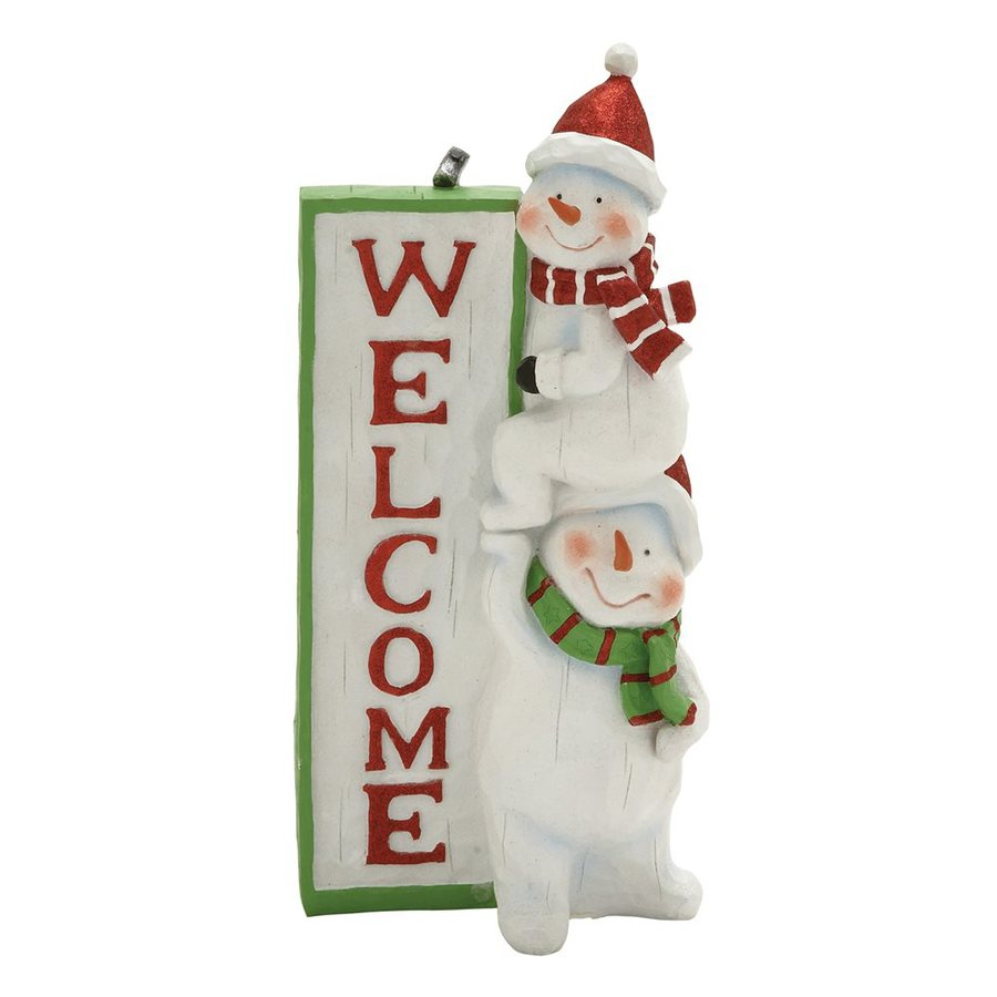 Woodland Imports Snowman Sign