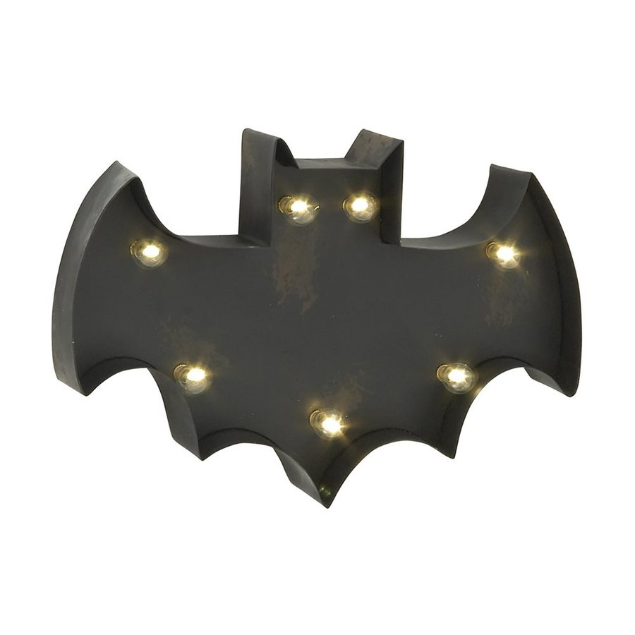 Woodland Imports Lighted Metal Wall-Mounted Bat Novelty Light with White LED Lights