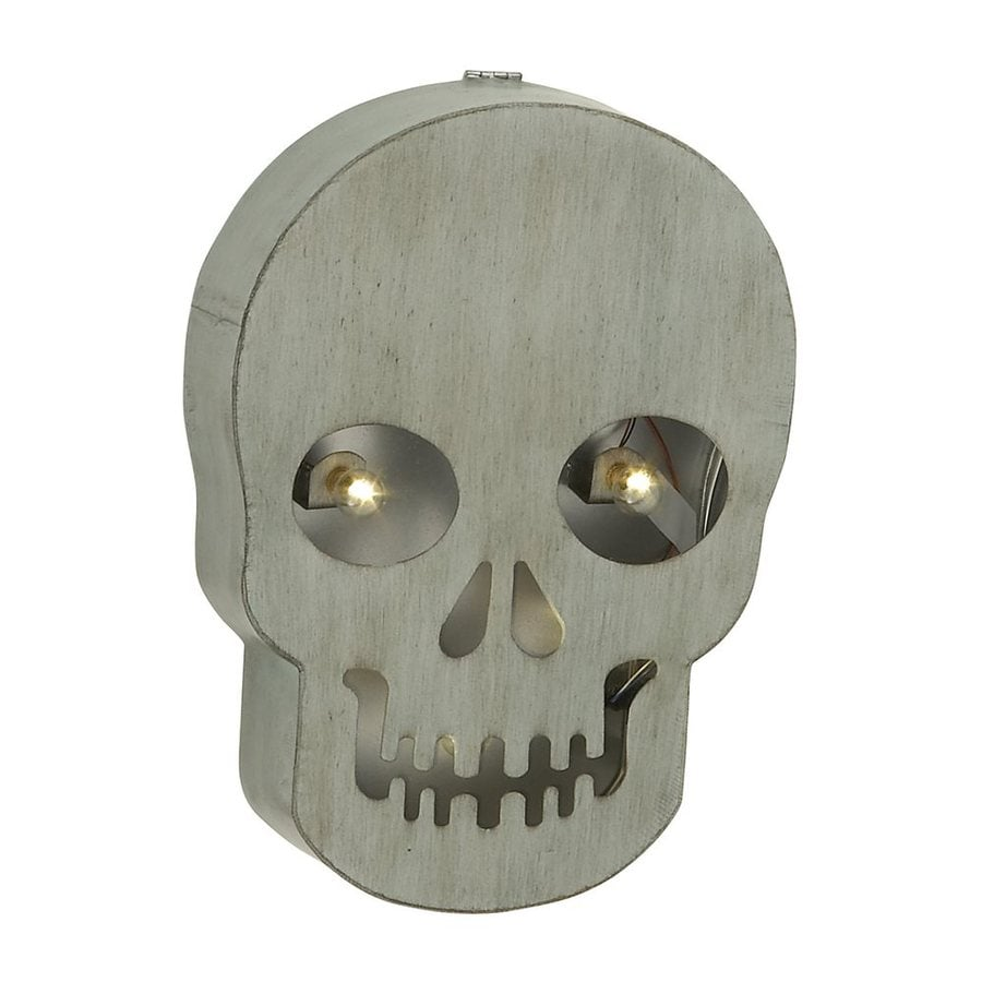 Woodland Imports Pre-Lit Skull Novelty Light White LED Lights