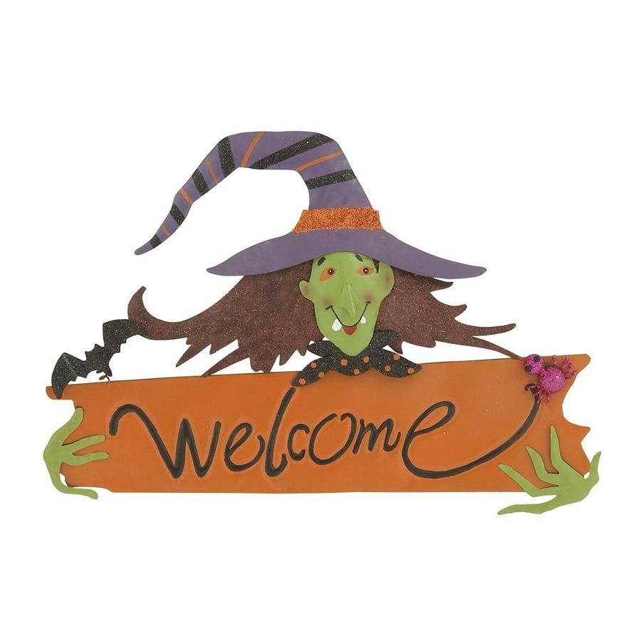 Woodland Imports Welcome Hanging Witch Sign
