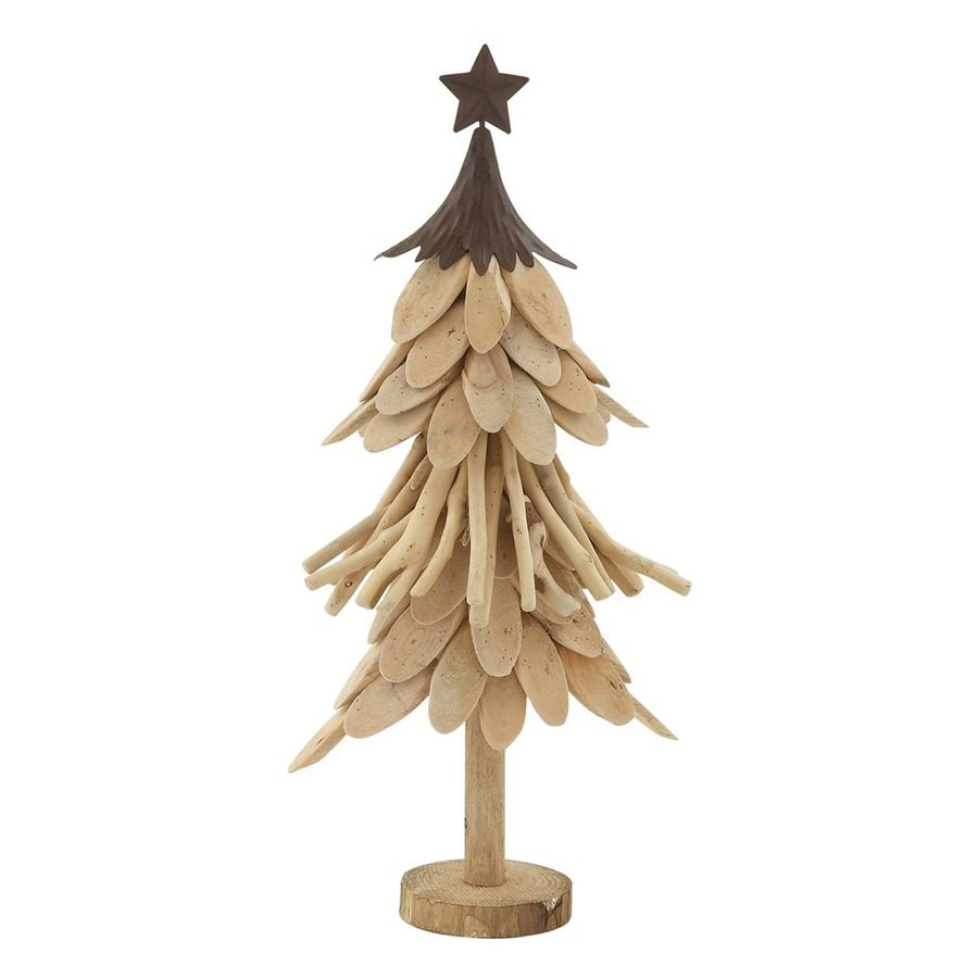 Metal Tabletop Christmas Tree: Shop Woodland Imports Wood Tabletop Christmas Tree At