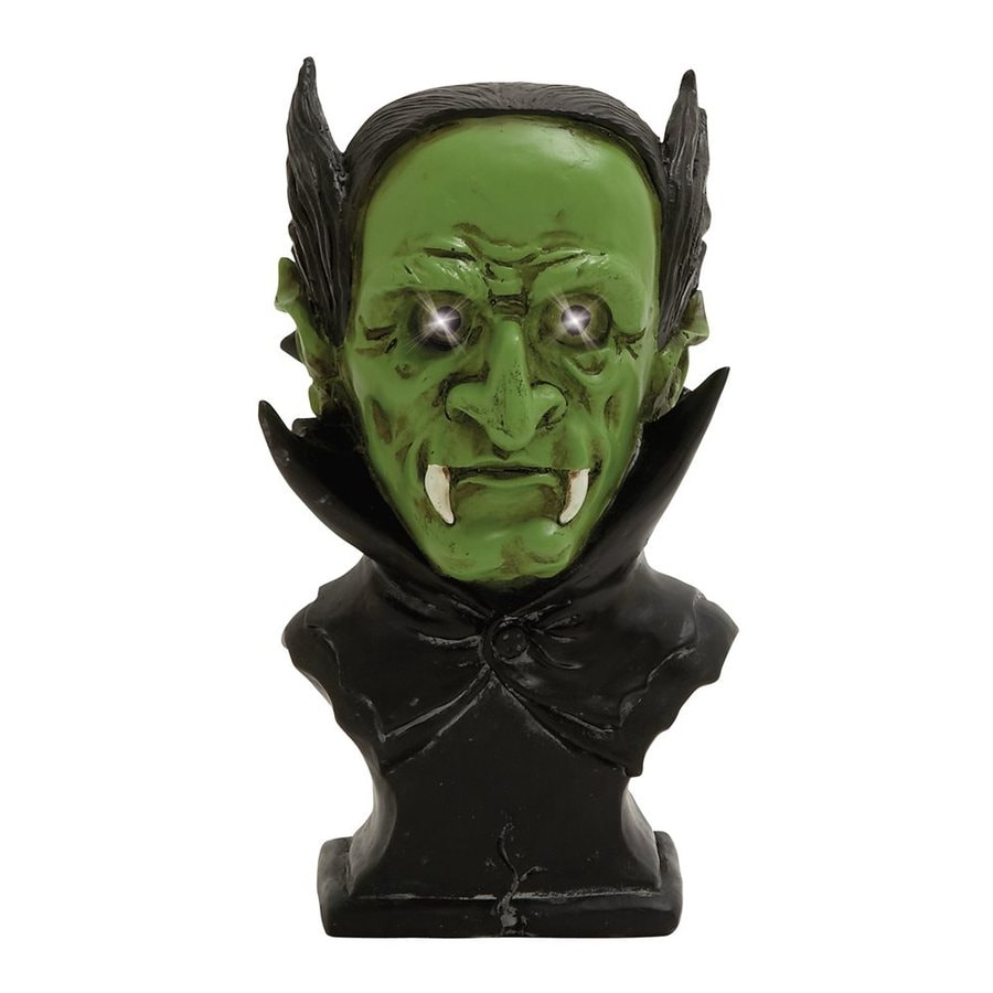 Woodland Imports Pre-Lit Resin Tabletop Devil Sculpture with White LED Lights
