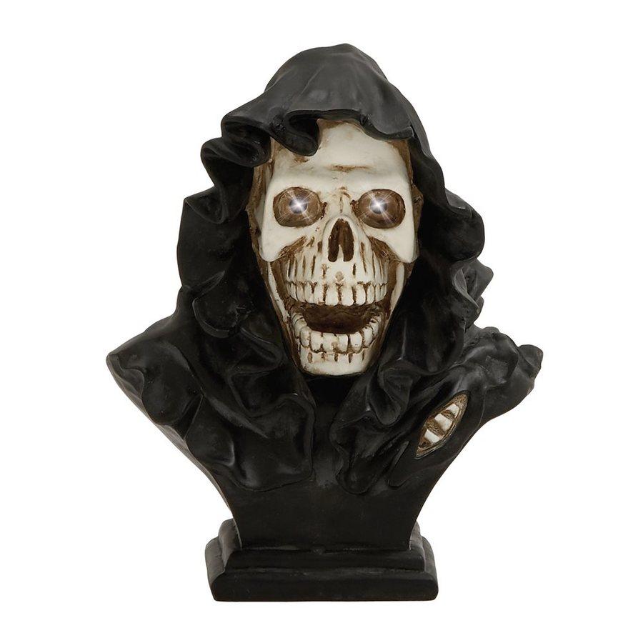 Woodland Imports Pre-Lit Skull Sculpture White LED Lights