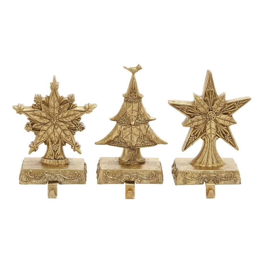 Woodland Imports 3-Pack Decorative Resin Composite Stocking Holder