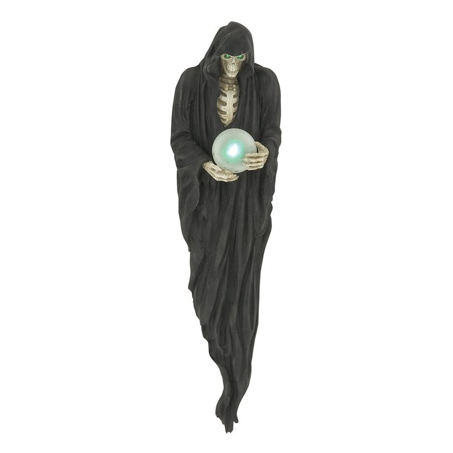 Woodland Imports Lighted Resin Wall-Mounted Grim Reaper Sculpture with LED Lights