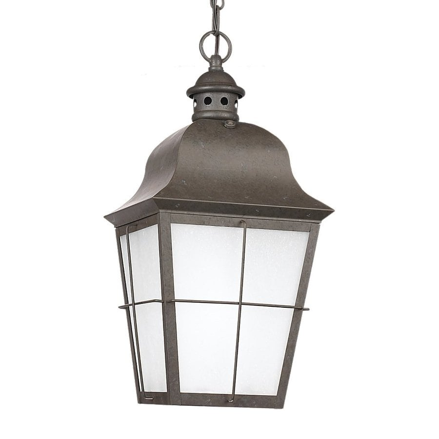 Sea Gull Lighting Chatham 19-in Oxidized Bronze Outdoor Pendant Light