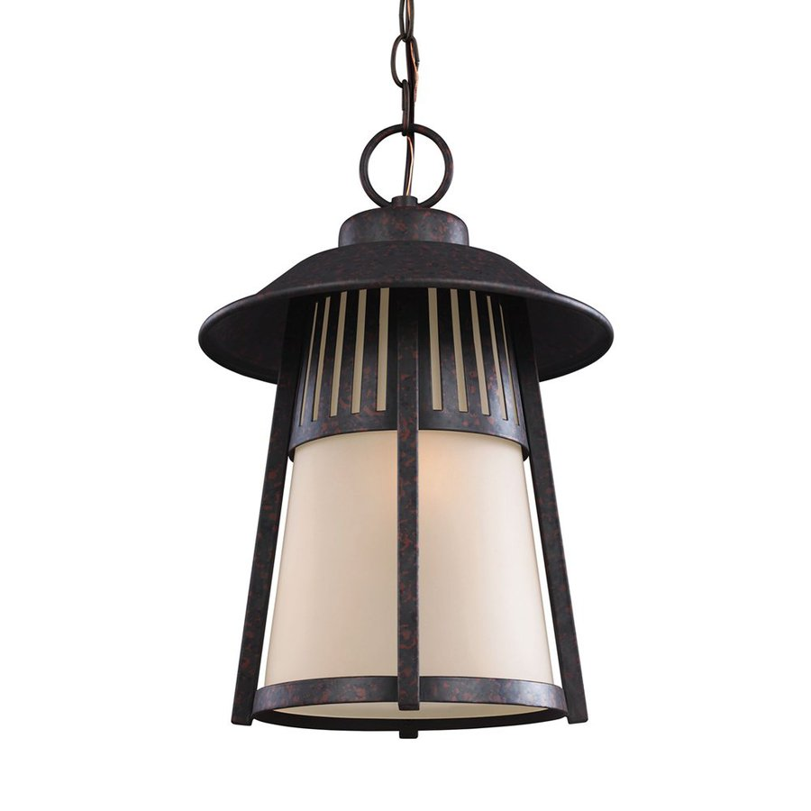 Sea Gull Lighting Hamilton Heights 16.25-in Oxford Bronze Outdoor Pendant Light ENERGY STAR