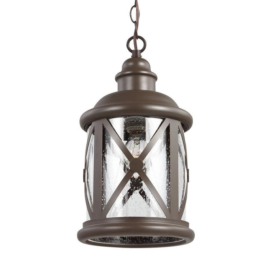 Antique Outdoor Pendant Lighting : Sea gull lighting lakeview in antique bronze