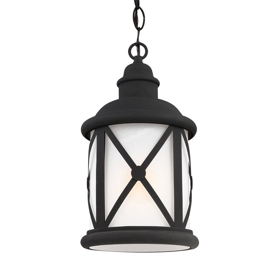 Sea Gull Lighting Lakeview 15.25-in Black Outdoor Pendant Light ENERGY STAR