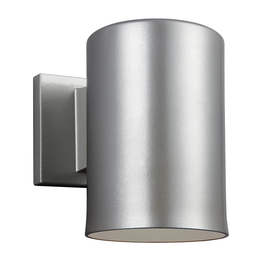 Sea Gull Lighting Outdoor Bullets 7.25-in H Painted Brushed Nickel Dark Sky Outdoor Wall Light