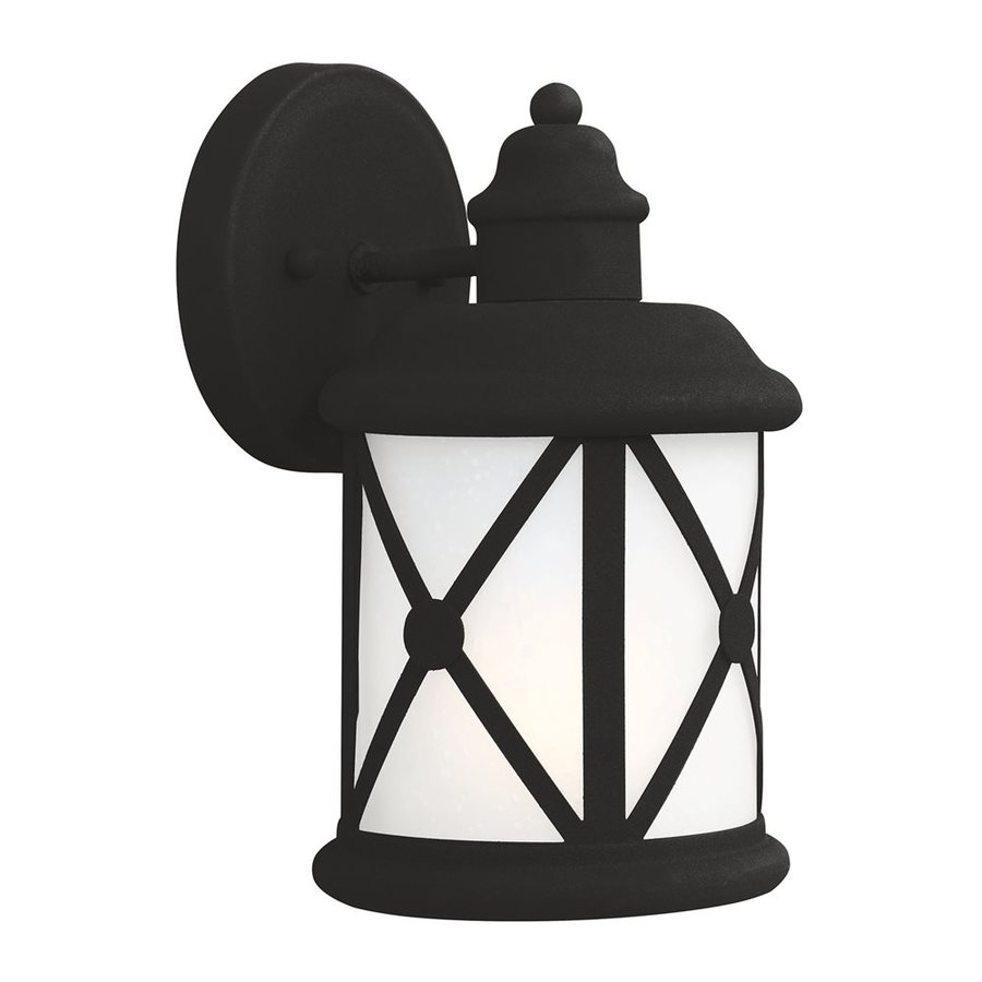 Sea Gull Lighting Lakeview 10.125-in H Black Outdoor Wall Light ENERGY STAR