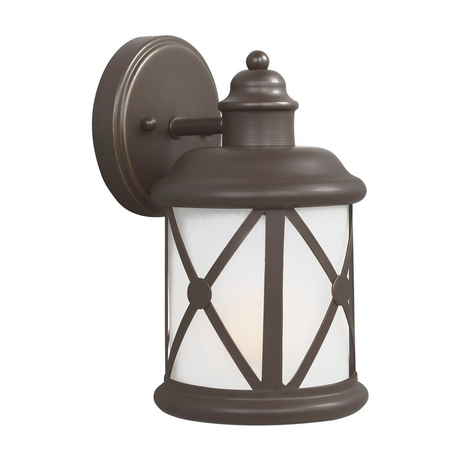 Sea Gull Lighting Lakeview 10.125-in H Antique Bronze Outdoor Wall Light ENERGY STAR