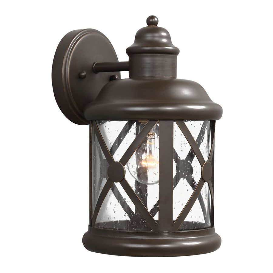 Sea Gull Lighting Lakeview 12-in H Antique Bronze Outdoor Wall Light