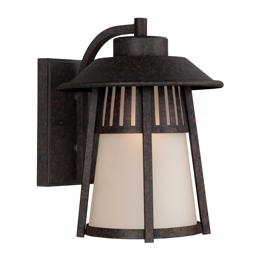 Sea Gull Lighting Hamilton Heights 12.063-in H Oxford Bronze Outdoor Wall Light