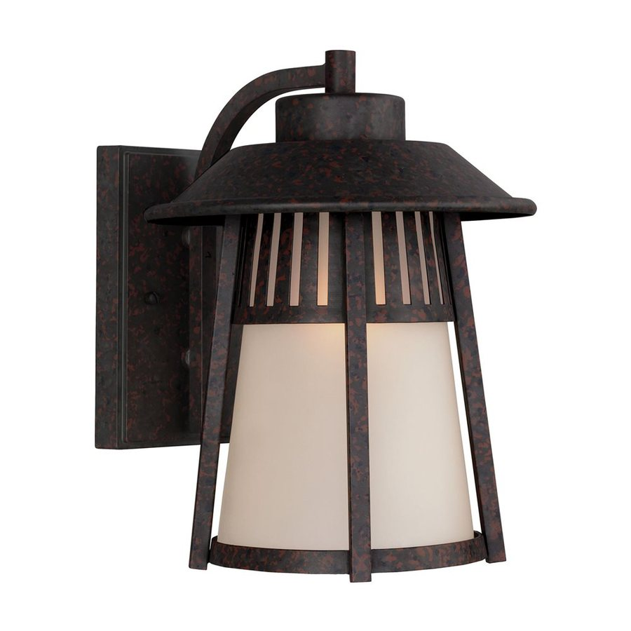 Sea Gull Lighting Hamilton Heights 12.063-in H Oxford Bronze Outdoor Wall Light ENERGY STAR