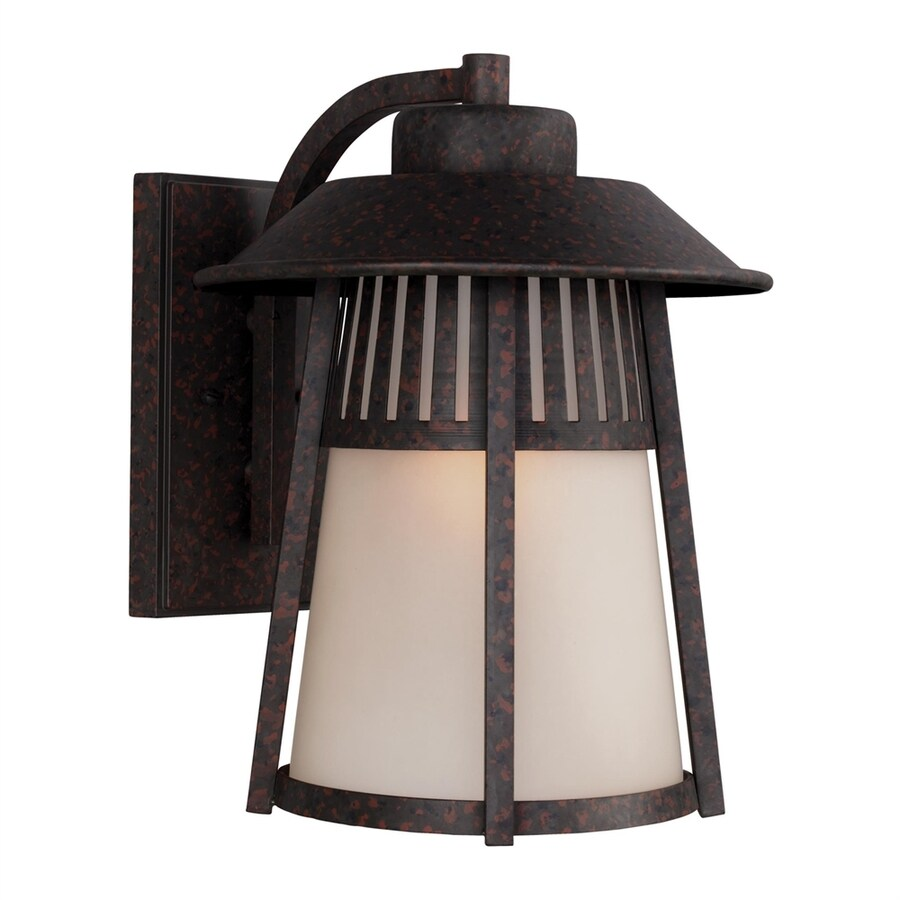 Sea Gull Lighting Hamilton Heights 14.531-in H Oxford Bronze Outdoor Wall Light