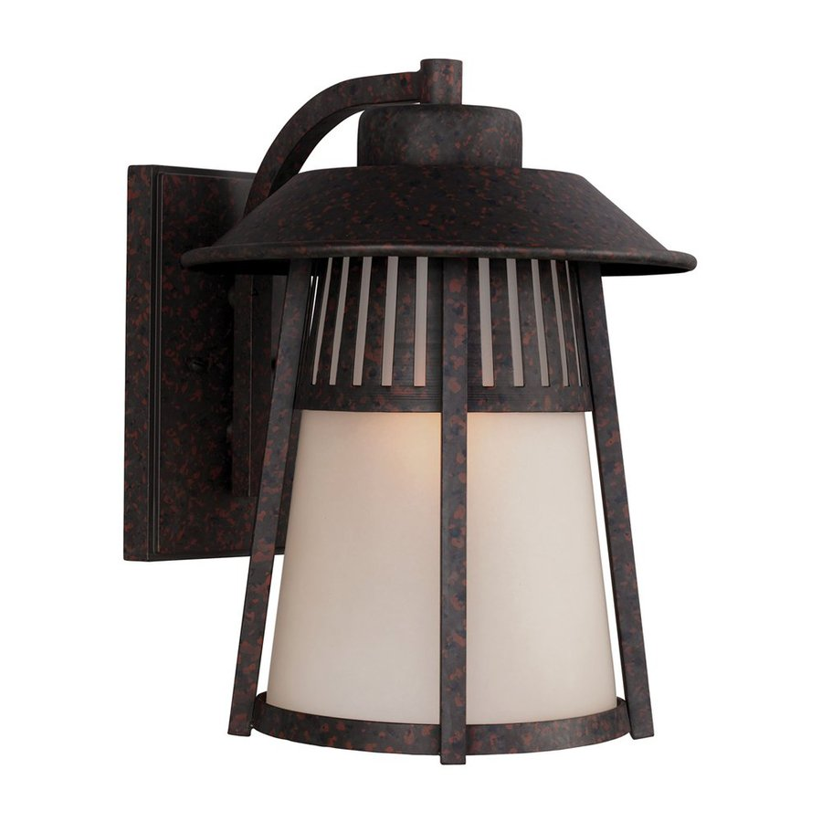 Sea Gull Lighting Hamilton Heights 14.531-in H Oxford Bronze Outdoor Wall Light ENERGY STAR