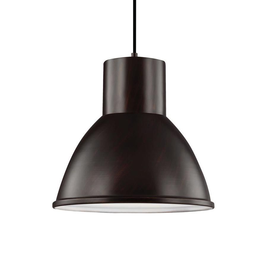 Sea Gull Lighting Division Street 15.25-in Burnt Sienna Industrial Single Warehouse Pendant