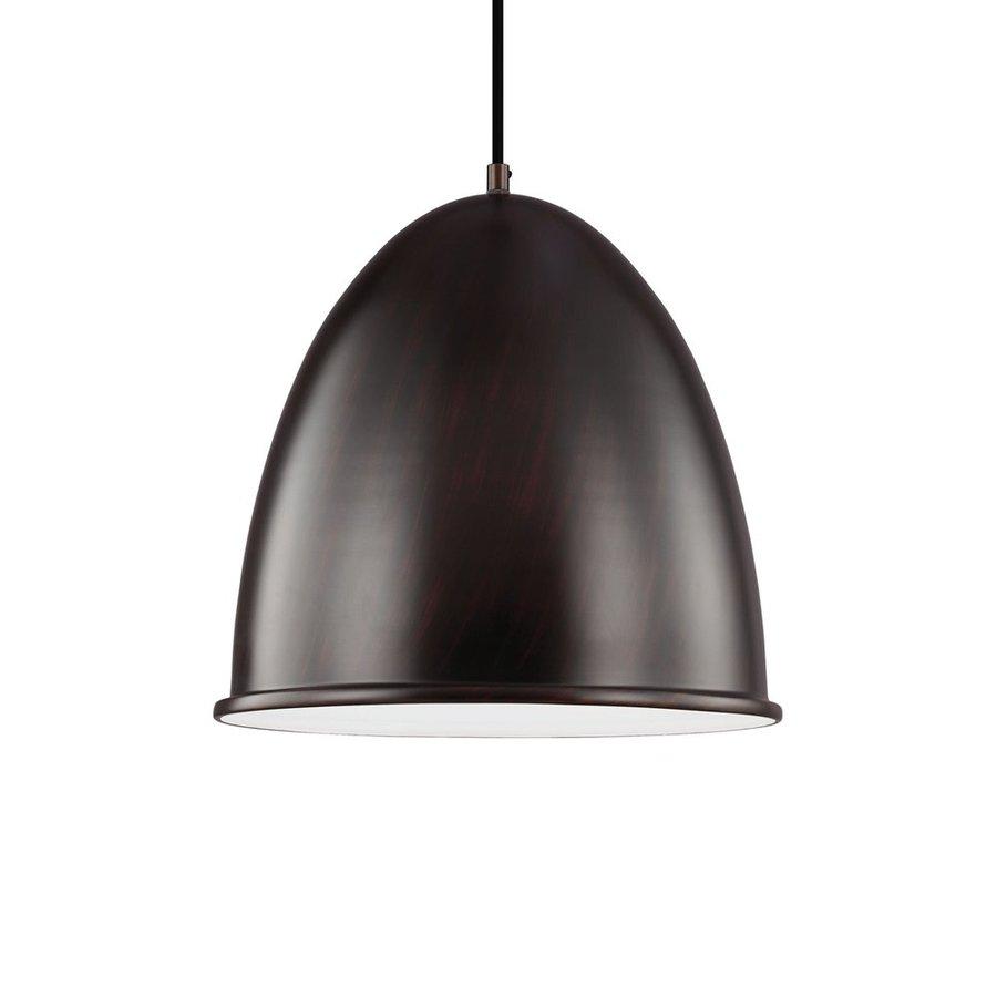 Sea Gull Lighting Hudson Street 15.75-in Burnt Sienna Industrial Single Dome Pendant