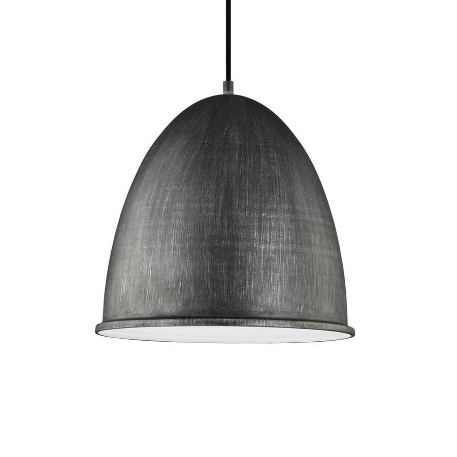 Sea Gull Lighting Hudson Street 15.75-in Stardust Industrial Single Dome Pendant