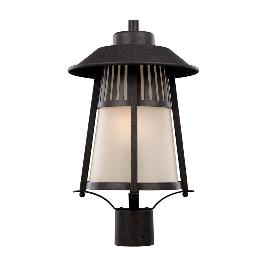 Sea Gull Lighting Hamilton Heights 19.031-in H Oxford Bronze Post Light