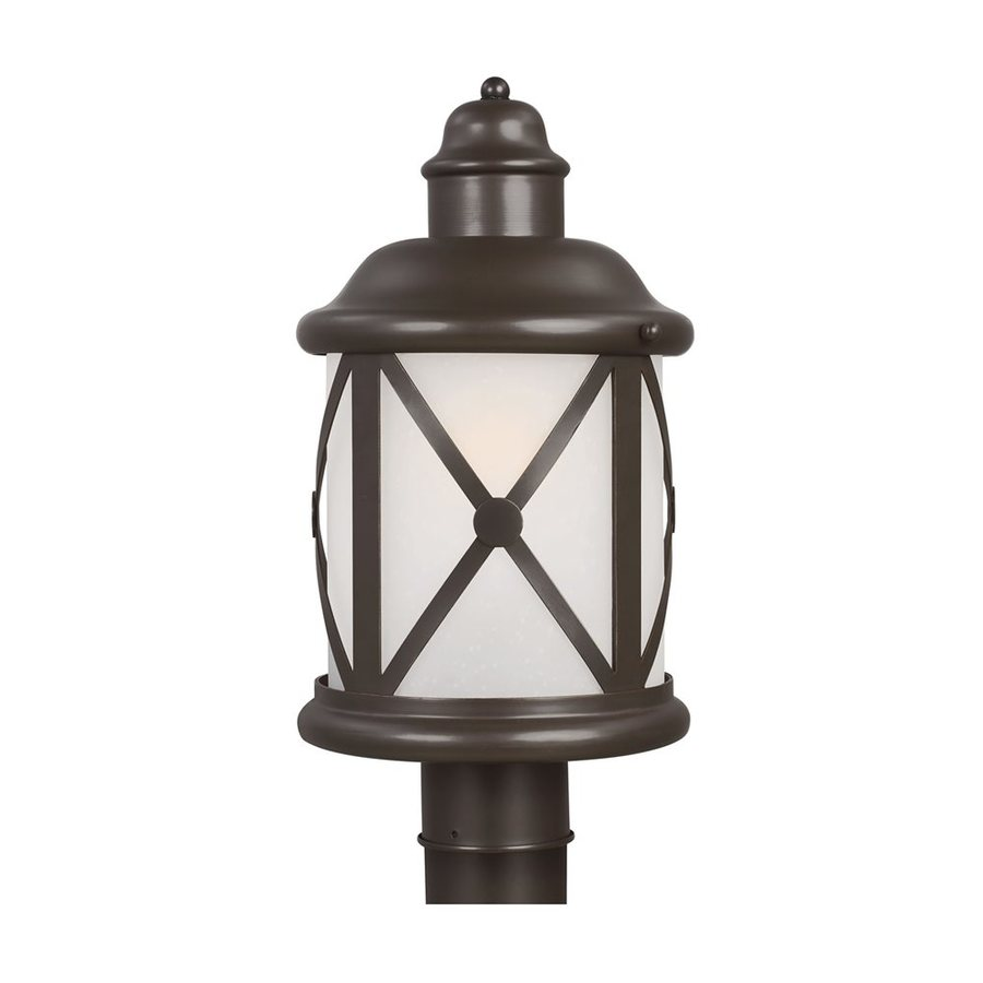 Sea Gull Lighting Lakeview 16.375-in H Antique Bronze Post Light