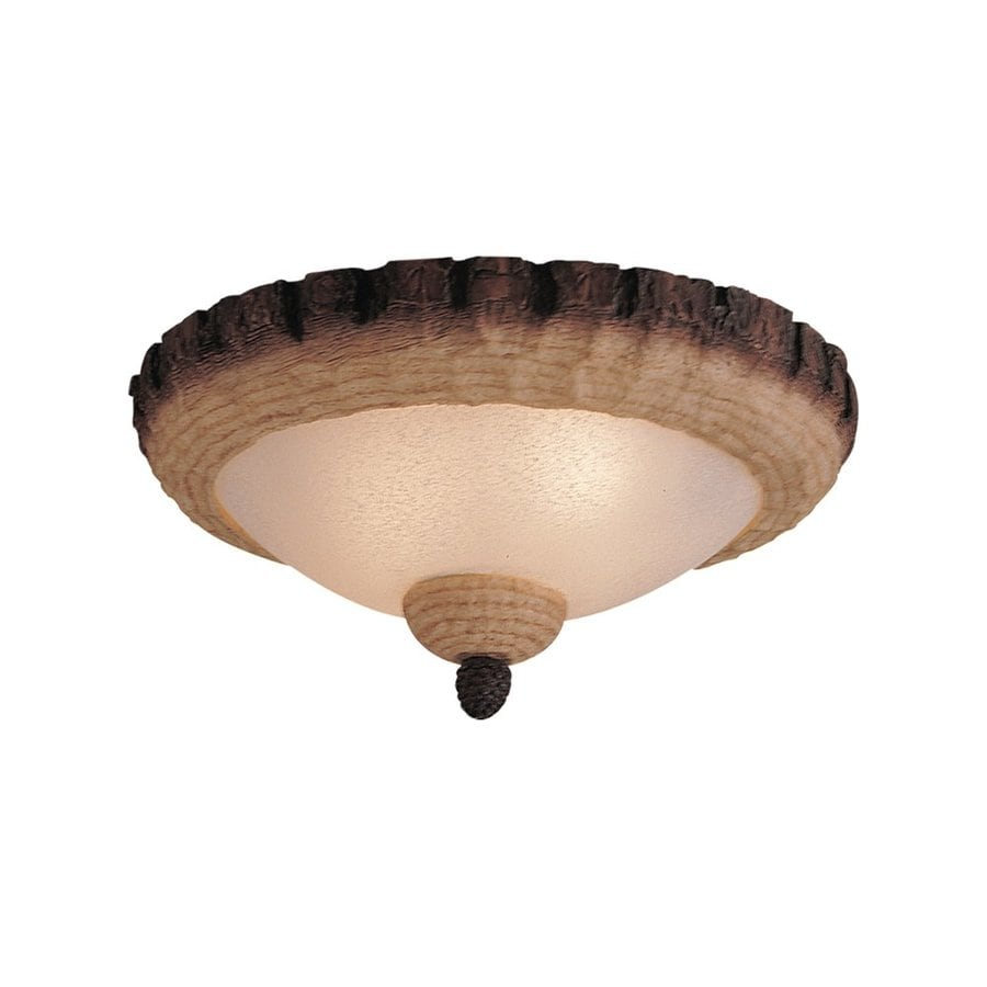 Monte Carlo Fan Company Lodge Pine 3-Light Lodge Pine Incandescent Ceiling Fan Light Kit with Frosted Glass