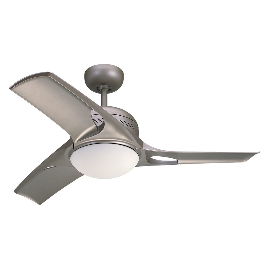 Monte Carlo Fan Company 38-in Titanium Downrod Mount Indoor Ceiling Fan Included Remote Control Included (3-Blade)