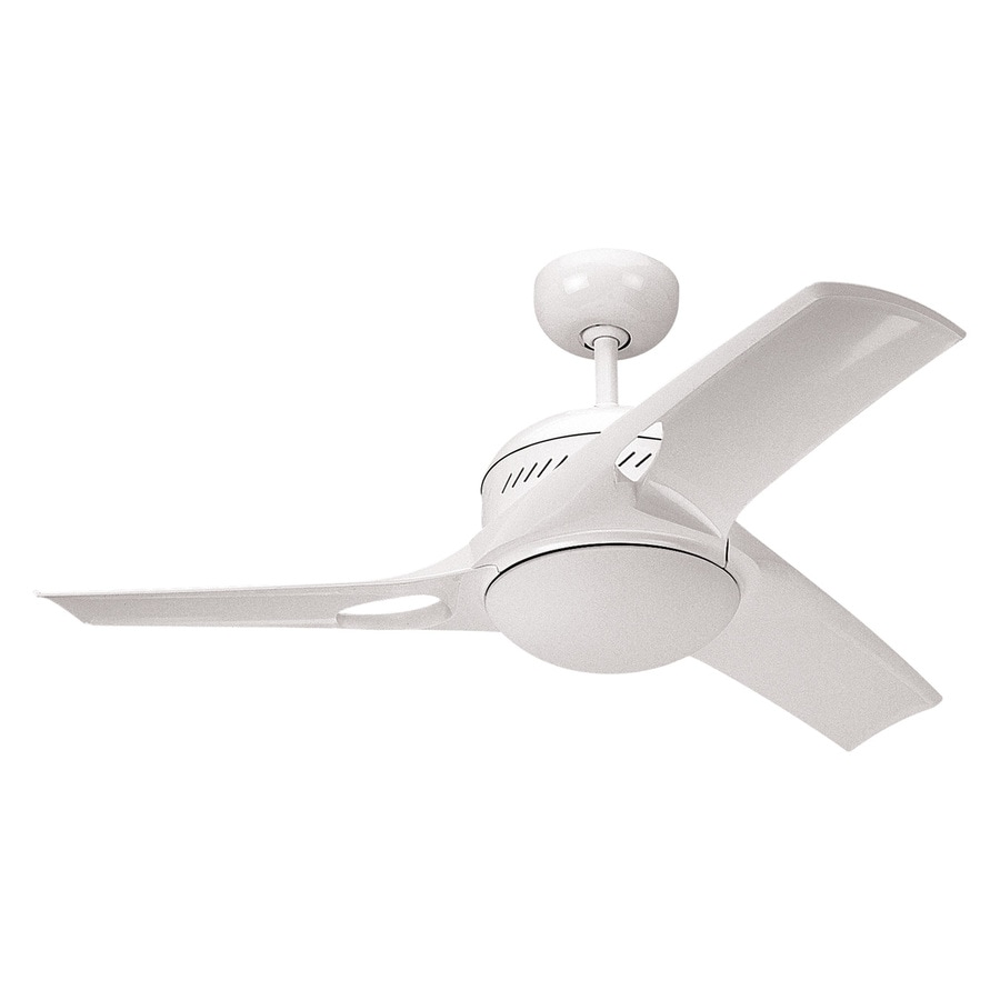 Monte Carlo Fan Company 38-in White Downrod Mount Indoor Ceiling Fan Included Remote Control Included (3-Blade)