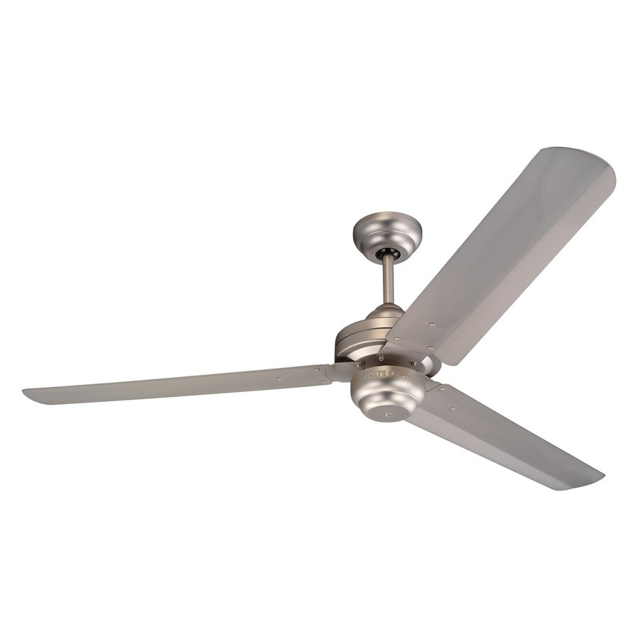 Monte Carlo Fan Company Studio 54-in Brushed pewter Indoor Downrod Mount Ceiling Fan (3-Blade) ENERGY STAR