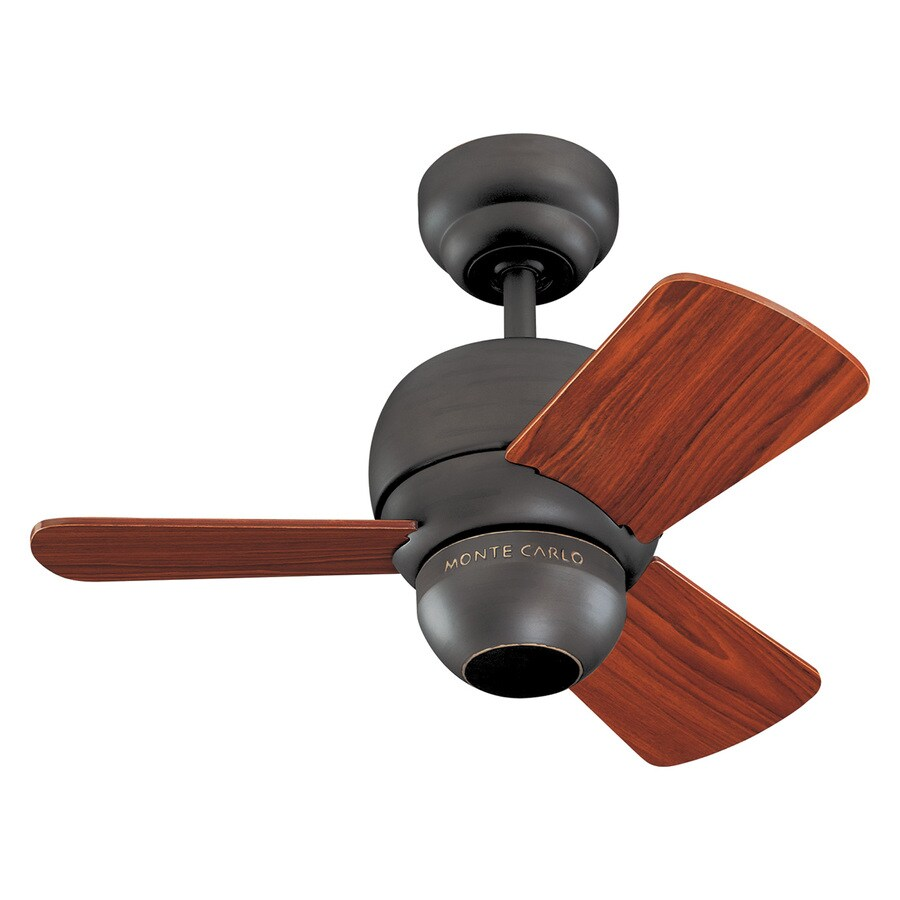Monte Carlo Fan Company Micro 24 24-in Roman Bronze Downrod or Close Mount Indoor Ceiling Fan Adaptable (3-Blade)