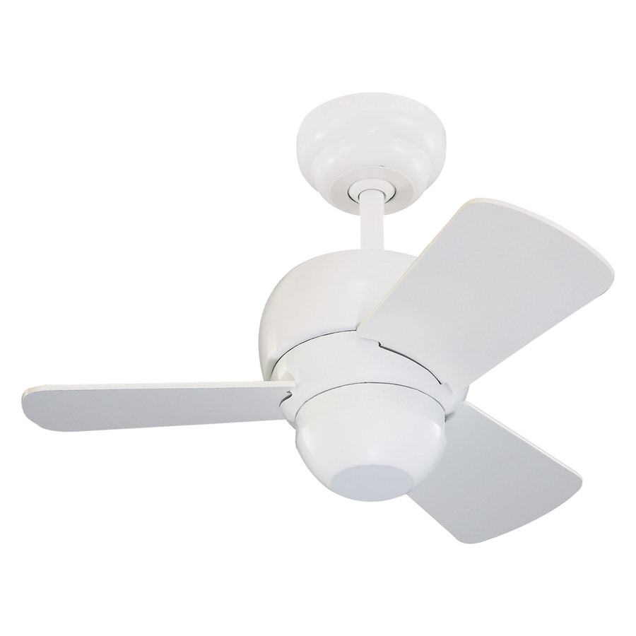 Shop monte carlo fan company micro 24 24 in white indoor ceiling fan monte carlo fan company micro 24 24 in white indoor ceiling fan 3 aloadofball Images
