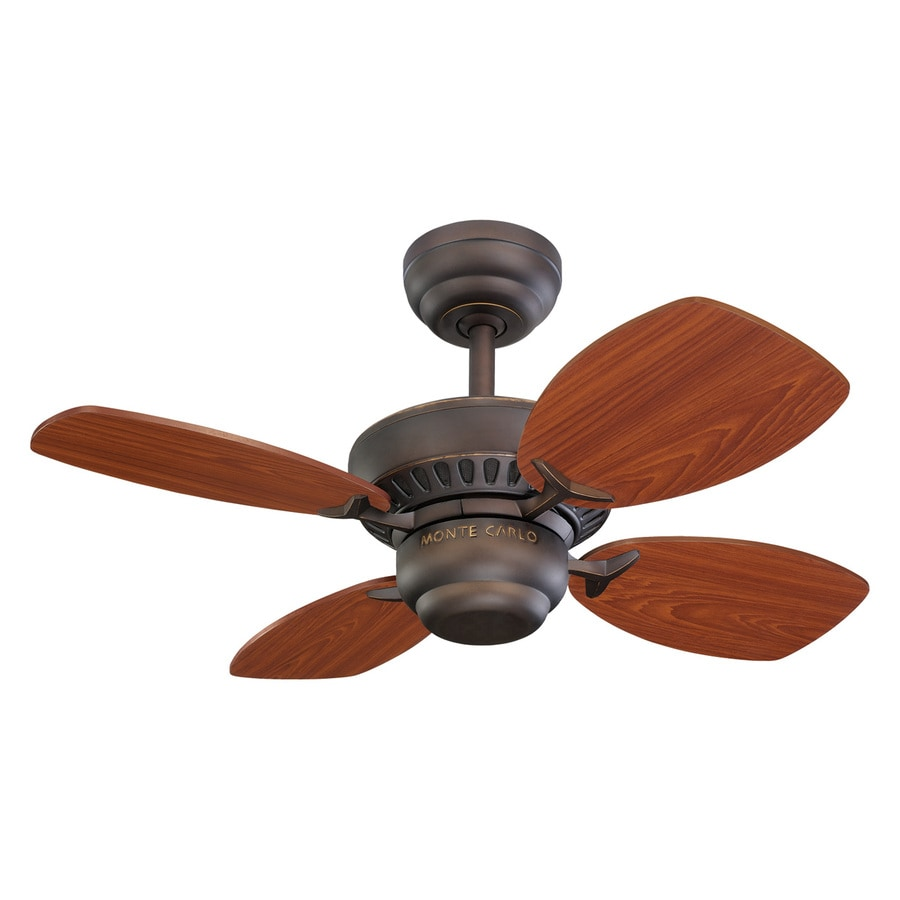 Monte Carlo Fan Company Colony Ii 28-in Roman Bronze Downrod or Close Mount Indoor Ceiling Fan Adaptable (4-Blade)