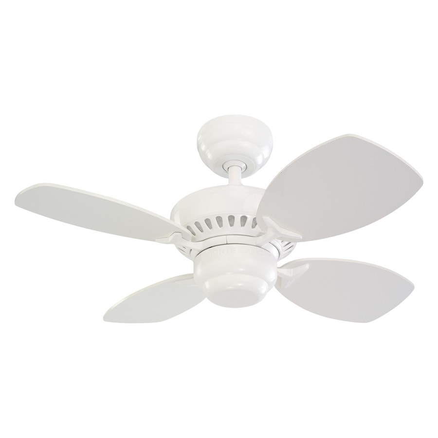 Monte Carlo Fan Company Colony II 28-in White Indoor Downrod Or Close Mount Ceiling Fan (4-Blade)