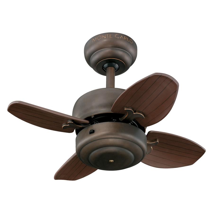 Monte Carlo Fan Company 20-in Roman Bronze Indoor Downrod Mount Ceiling Fan (4-Blade)