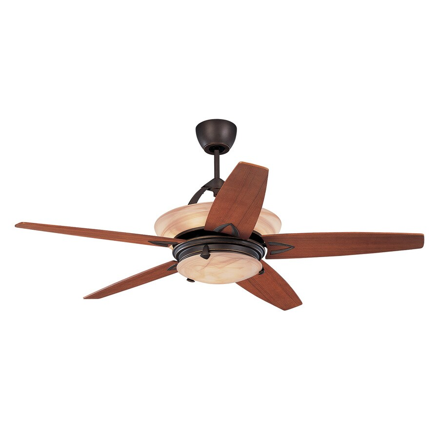 Monte Carlo Fan Company Arch 60-in Roman Bronze Indoor Downrod Mount Ceiling Fan with Light Kit and Remote